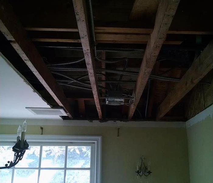 Dining Room Water Damage After